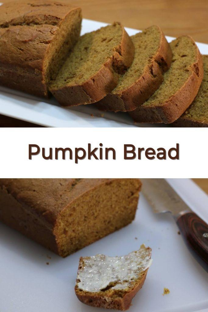 Pumpkin bread pin for Pinterest
