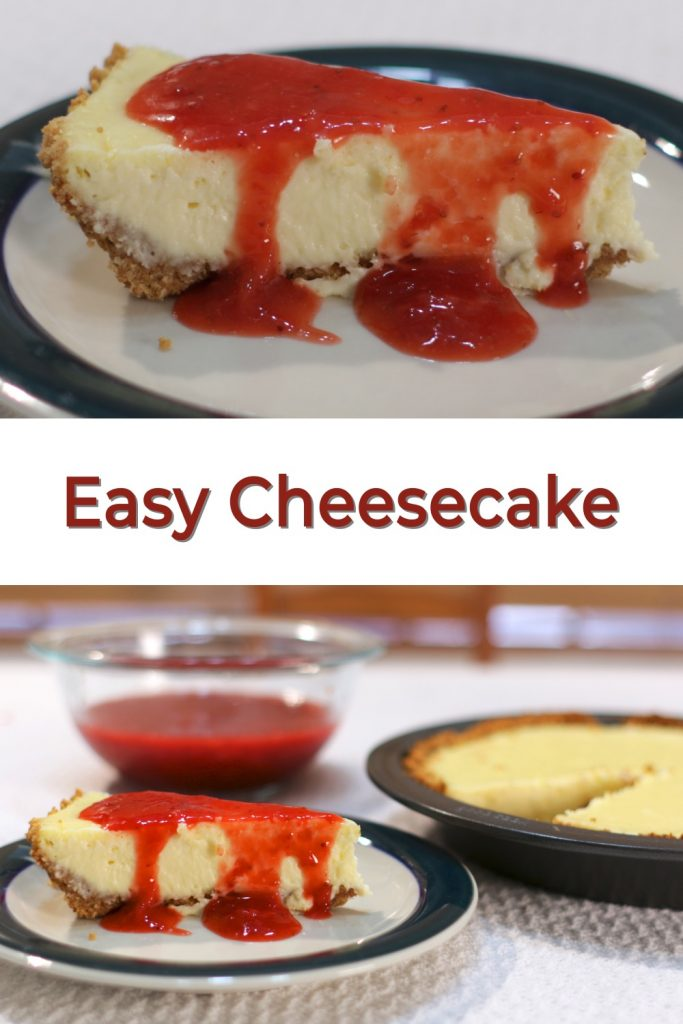 Easy cheesecake pin for Pinterest