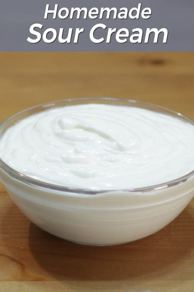 Homemade sour cream pin for Pinterest
