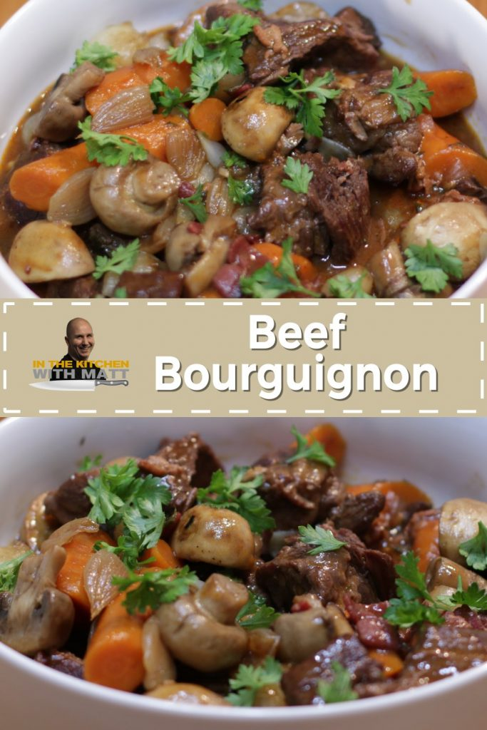 Beef Bourguignon pin for Pinterest