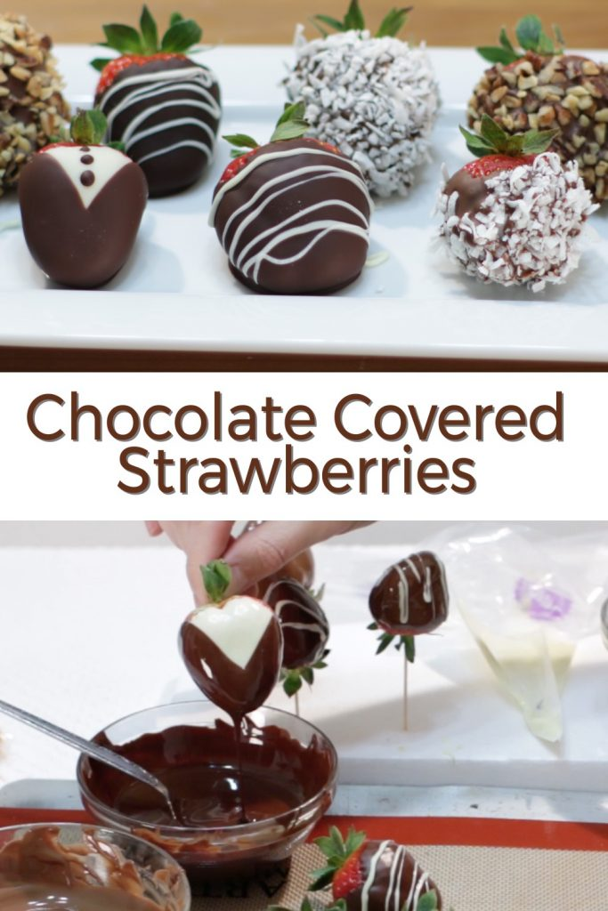 Chocolate covered strawberries pin for Pinterest