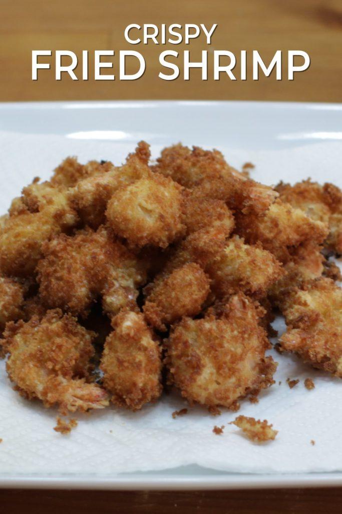Crispy fried shrimp pin for Pinterest