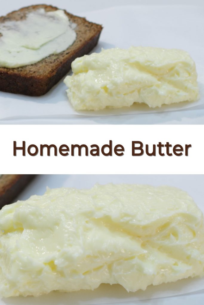Easy homemade butter pin for Pinterest