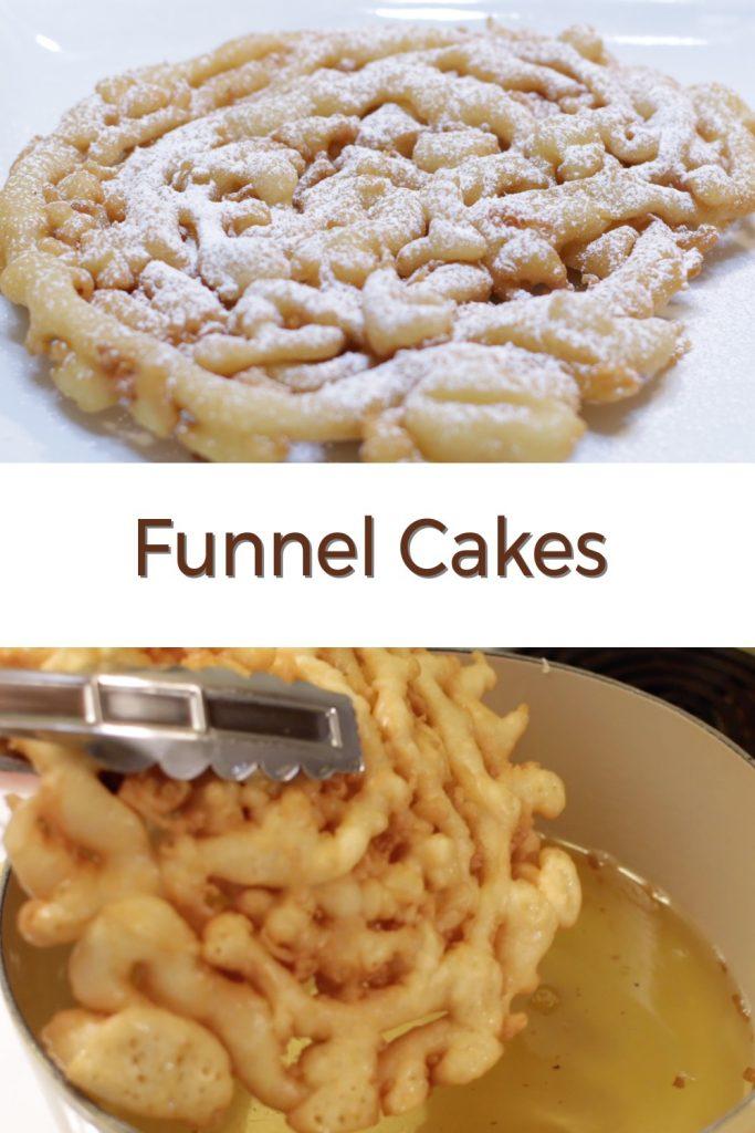 Funnel cakes pin for Pinterest