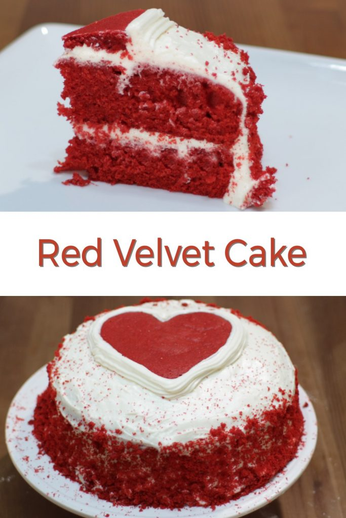 Red velvet cake pin for Pinterest
