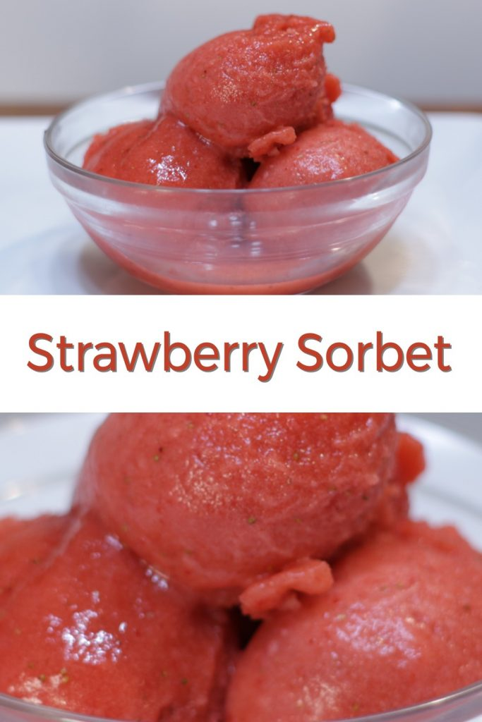Strawberry Sorbet Pin for Pinterest