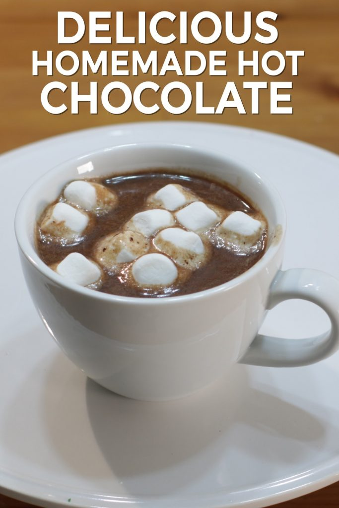 Delicious homemade hot chocolate pin for Pinterest