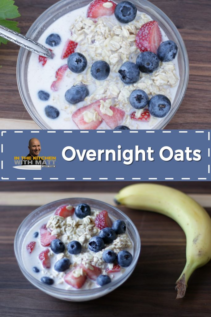 Overnight oats pin for Pinterst