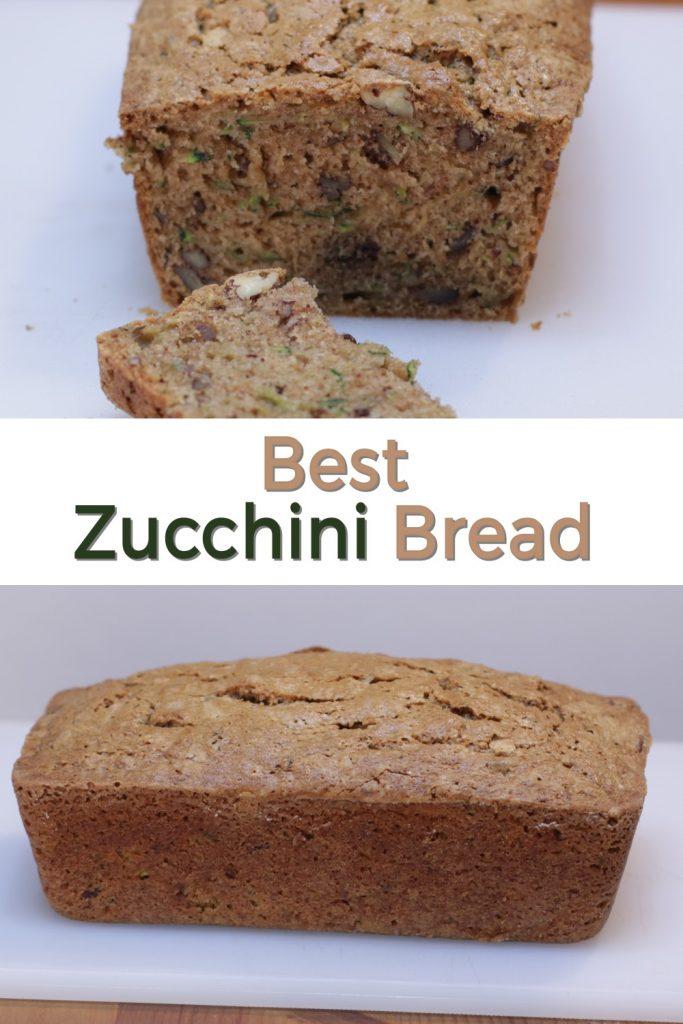 Best zucchini bread pin for Pinterest