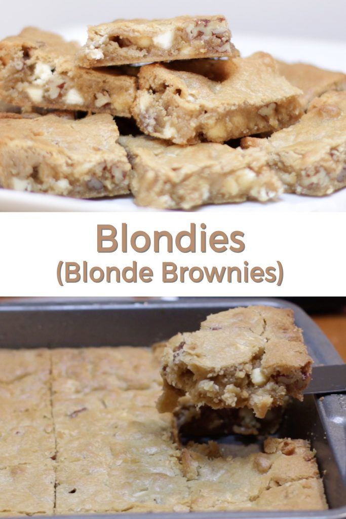 Blondies pin for Pinterest
