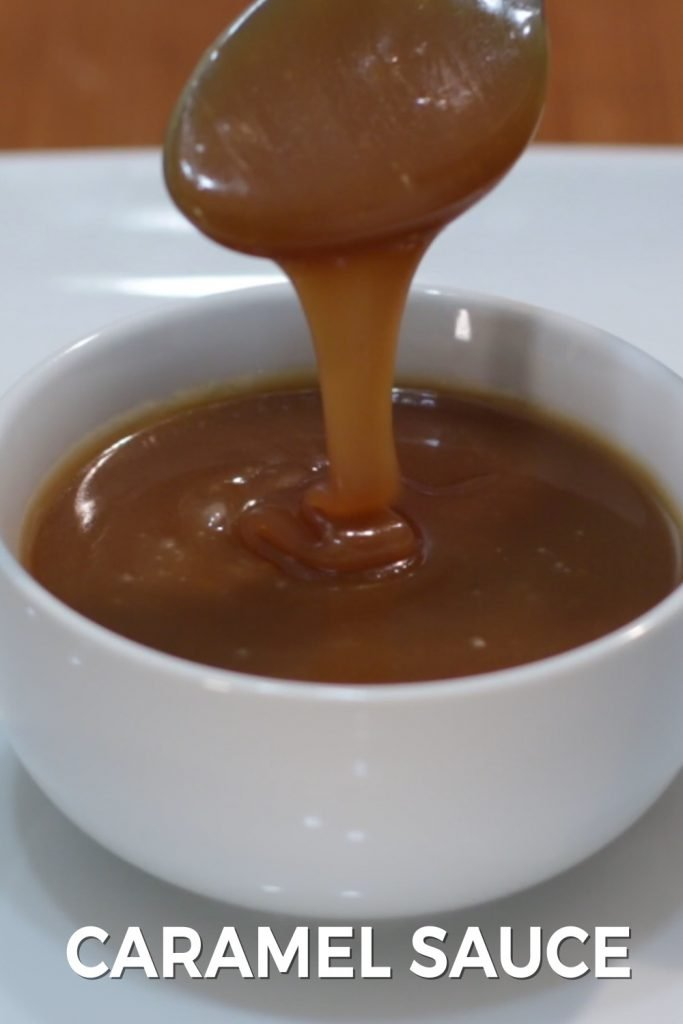 Caramel sauce pin for Pinterest