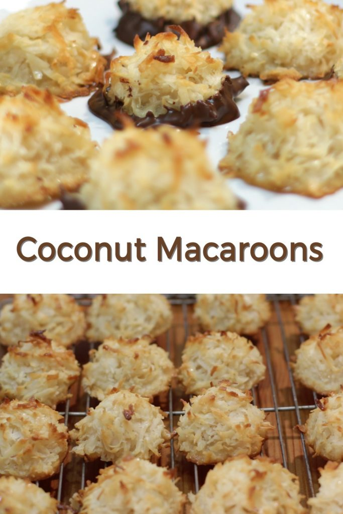 Coconut Macaroons pin for Pinterest