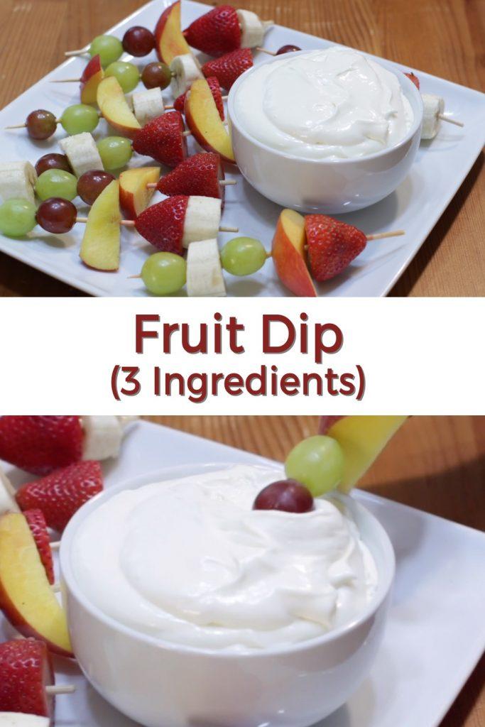 Fruit dip pin for Pinterest
