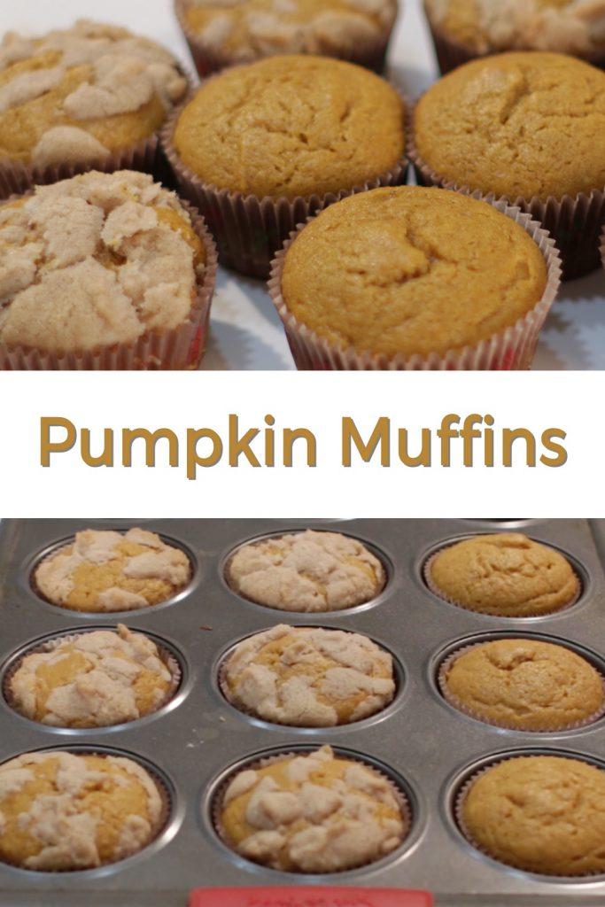 Pumpkin Muffins pin for Pinterest