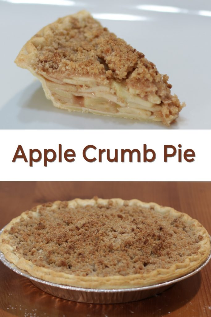 Apple Crumb Pie pin for Pinterest