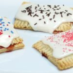 Homemade pop tarts on a white plate