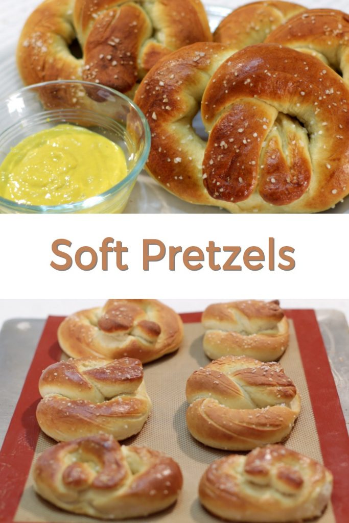Homemade soft pretzels pin for Pinterest