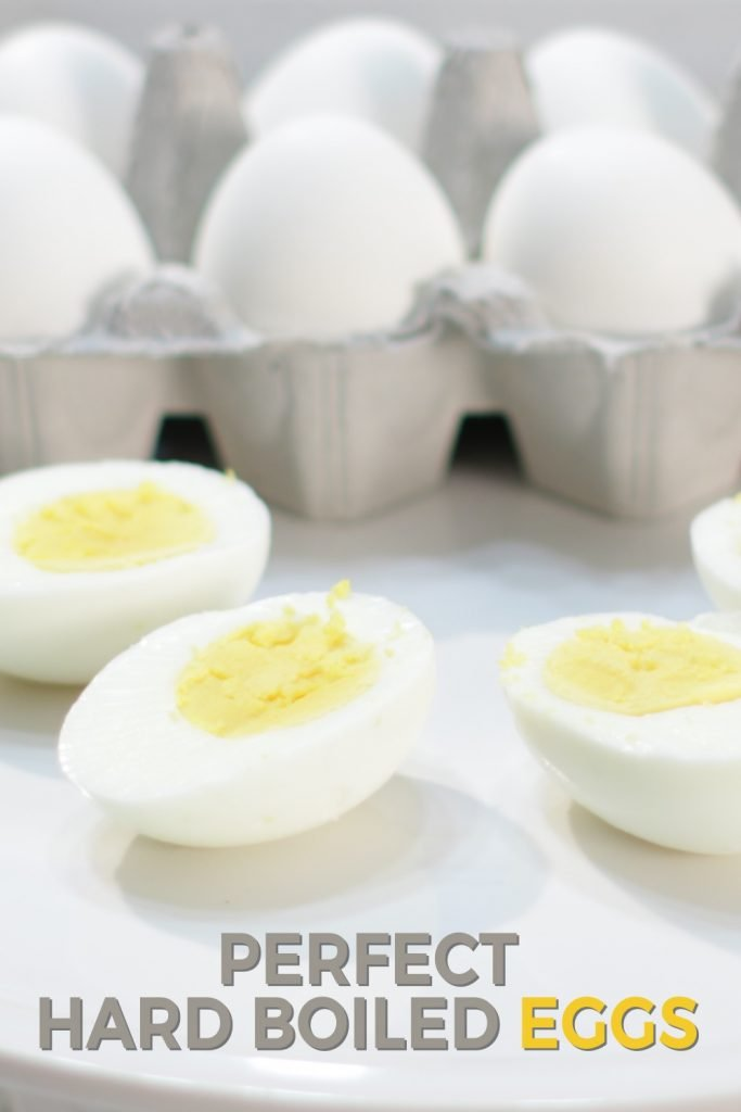 Perfect hard boiled eggs pin for Pinterest