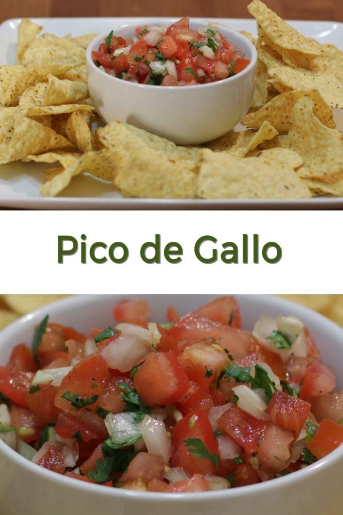 Pico de gallo pin for Pinterest