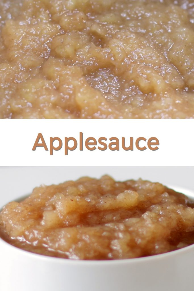 Homemade applesauce pin for Pinterest