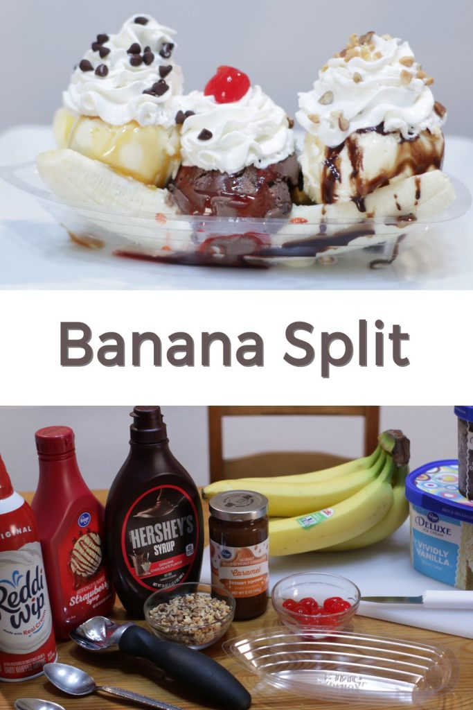 Banana split pin for Pinterest
