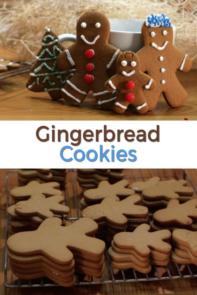 Gingerbread cookies pin for Pinterest