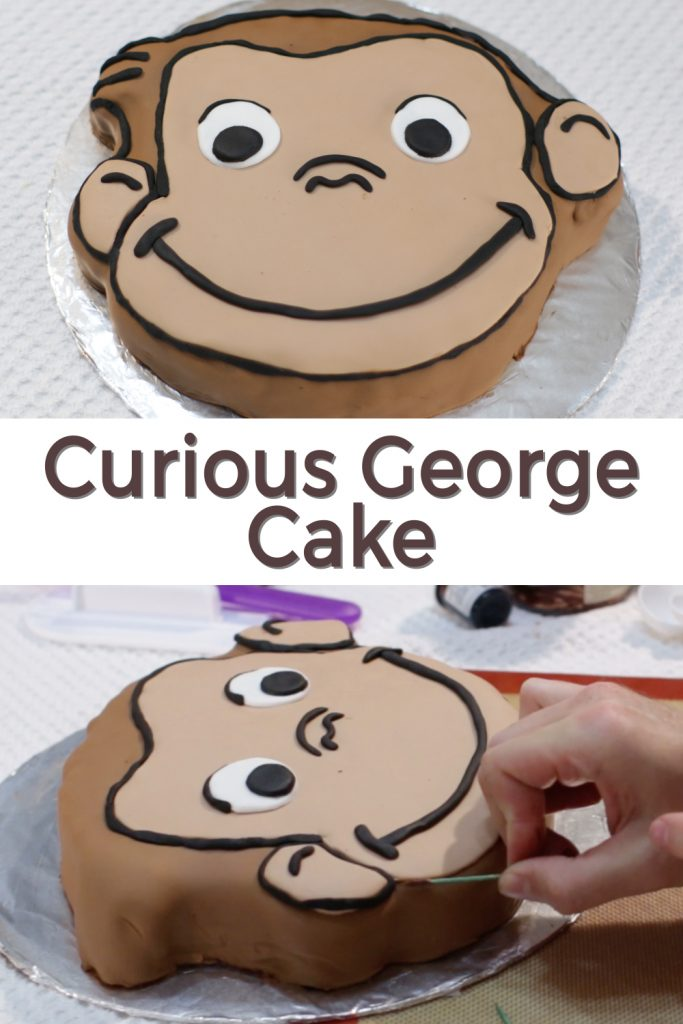 Curious George Cake Pin for Pinterest