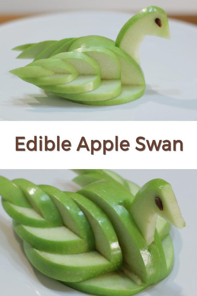 Apple swan pin for Pinterest