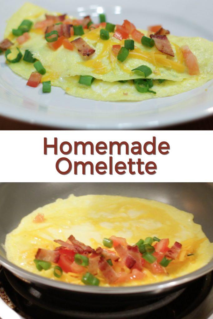 Homemade omelet pin for Pinterest