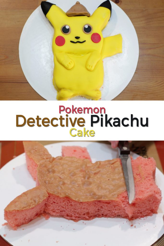 Pokemon Detective Pikachu cake pin for Pinterest