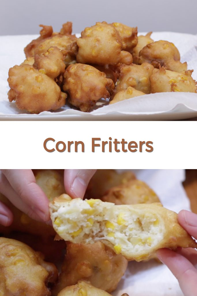Corn Fritters pin for Pinterest