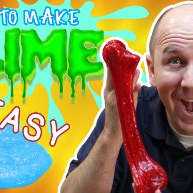 How to make slime easy guy holding red slime