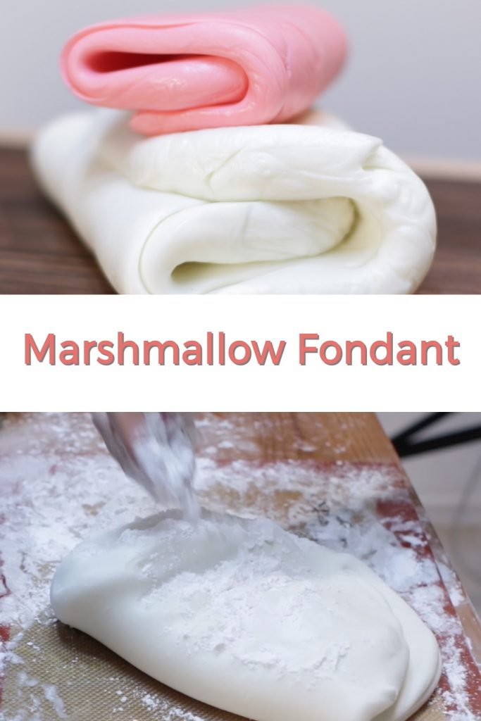 Marshmallow fondant pin for Pinterest