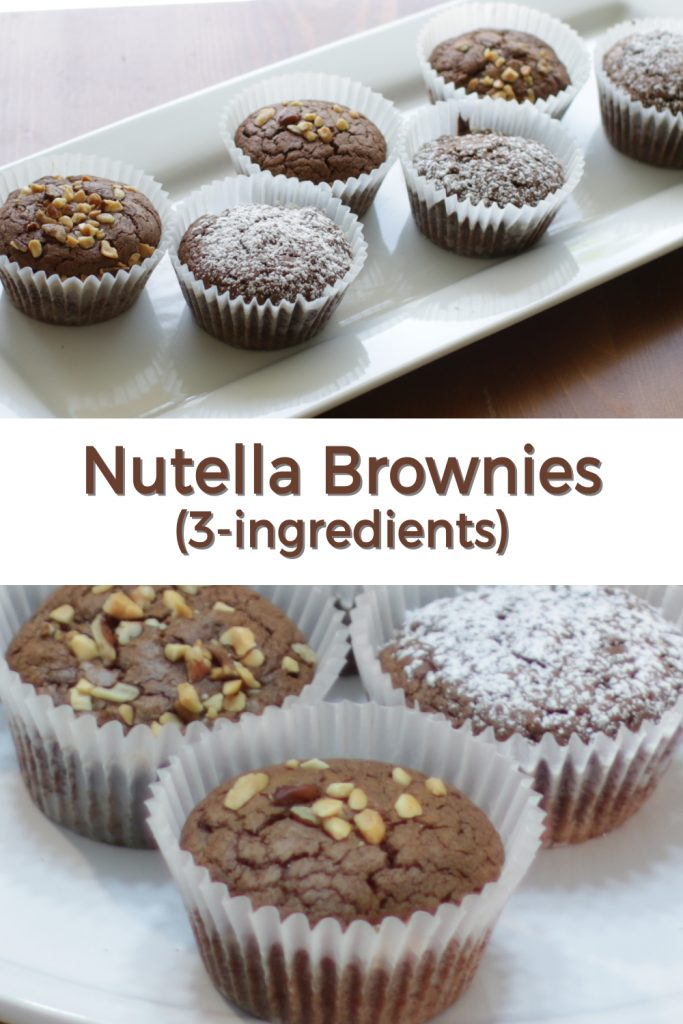 Nutella brownies pin for Pinterest