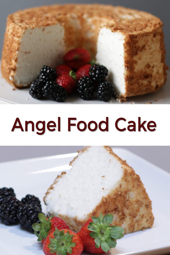 Angel Food Cake pin for Pinterest