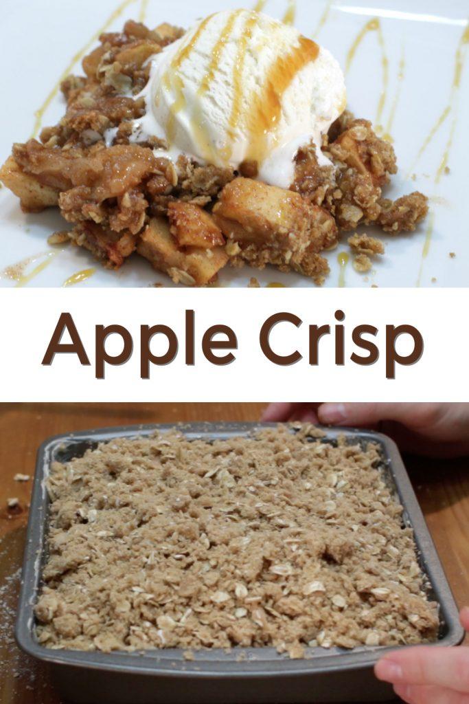 Homemade apple crisp pin for Pinterest
