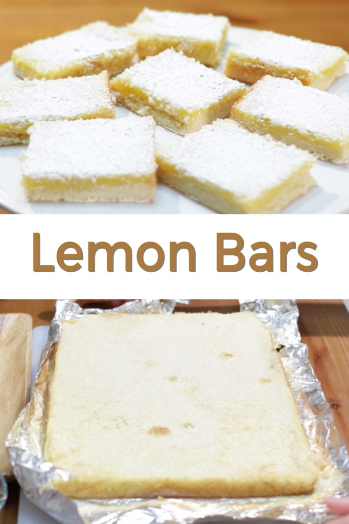 Lemon bars pin for Pinterest