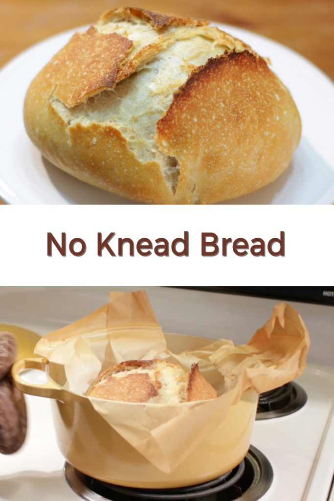 no knead bread pin for Pinterest