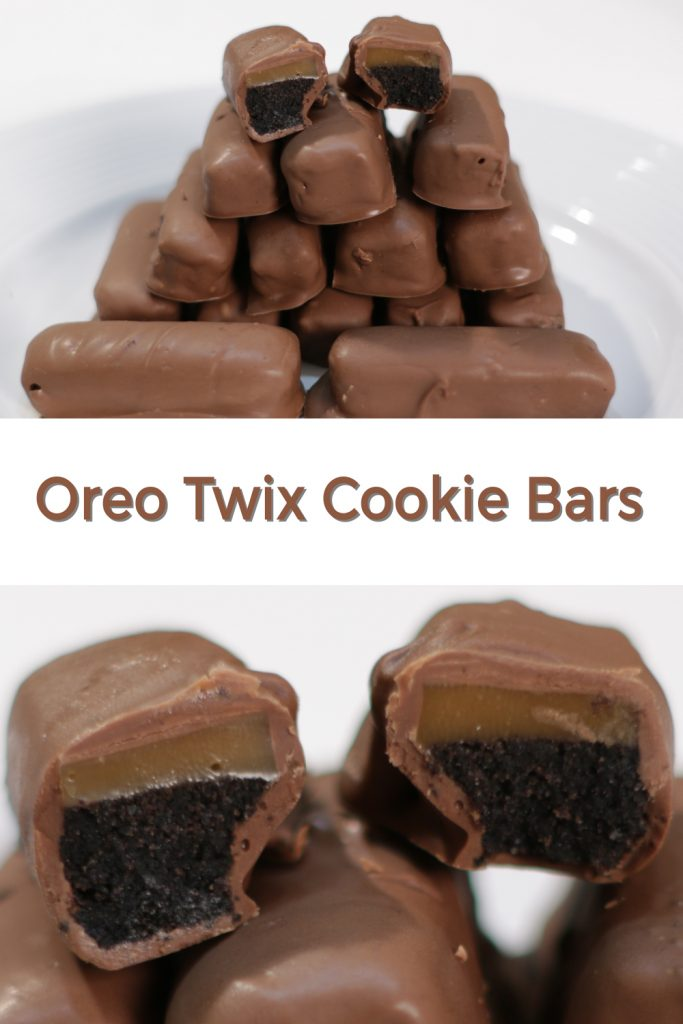 Oreo Twix Cookie Bars pin for Pinterest