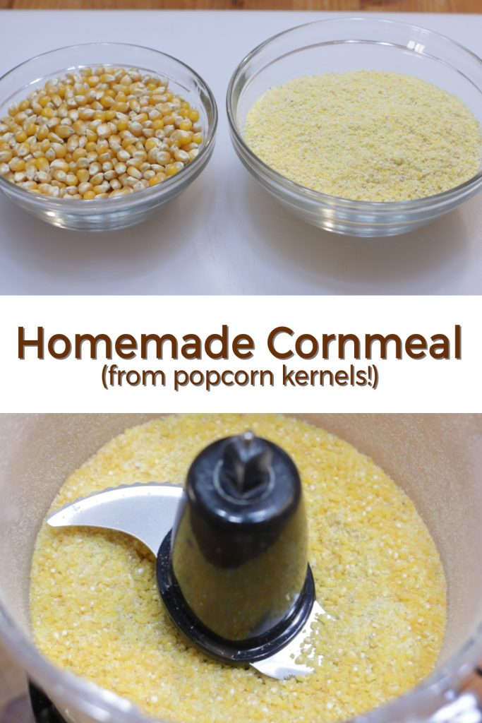Homemade cornmeal pin for Pinterest