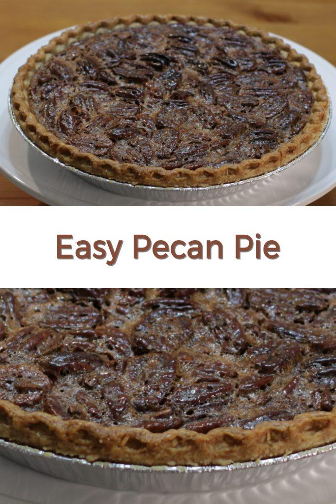 Easy pecan pie pin for Pinterest.