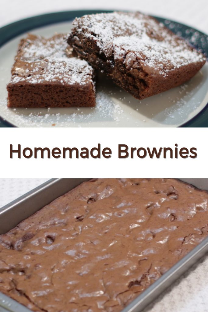Homemade brownies pin for Pinterest