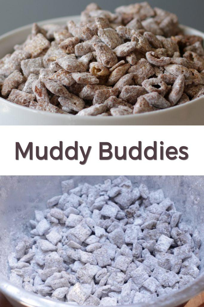 Muddy buddies pin for Pinterest