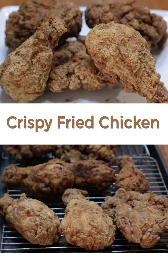 Crispy fried chicken pin for Pinterest