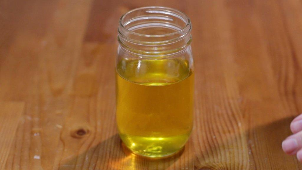 Mason Jar full of clarified butter.