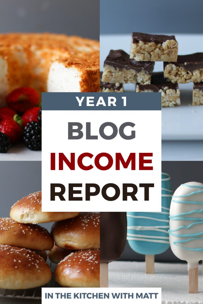 Year 1 Blog Income Report pin for Pinterest