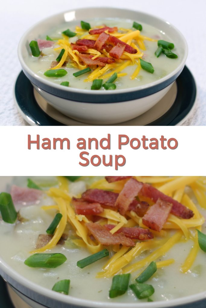 Ham and potato soup pin for Pinterest