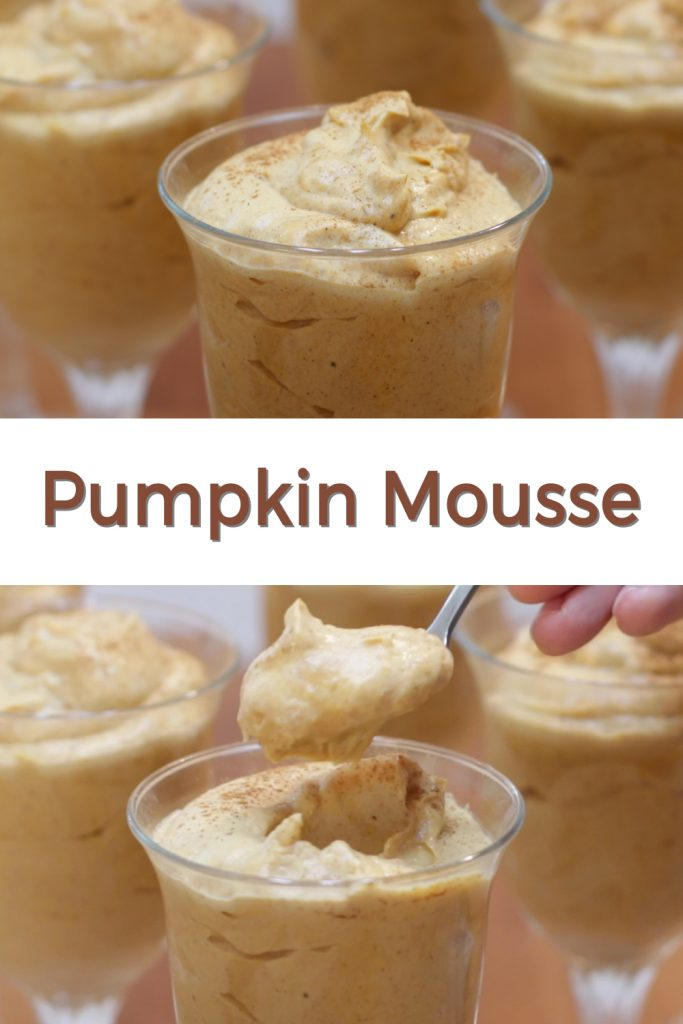 Pumpkin mousse pin for Pinterest