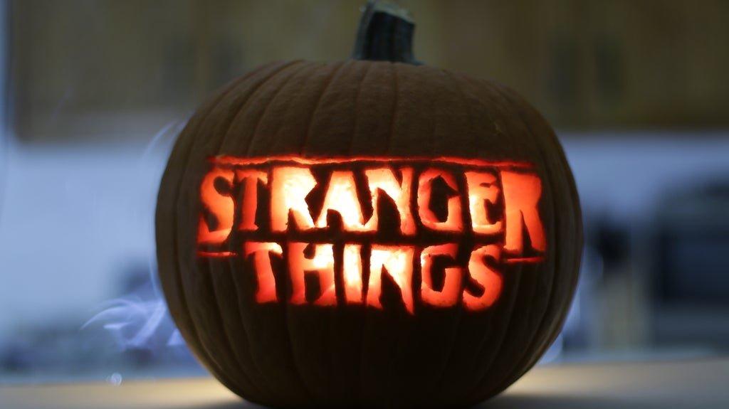 Stranger things pumpkin carving