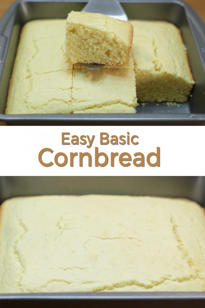 Easy basic cornbread pin for Pinterest